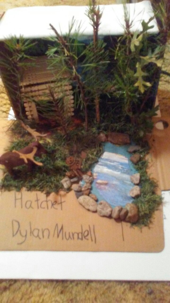 Hatchet Diorama Moose Theme With Images Science
