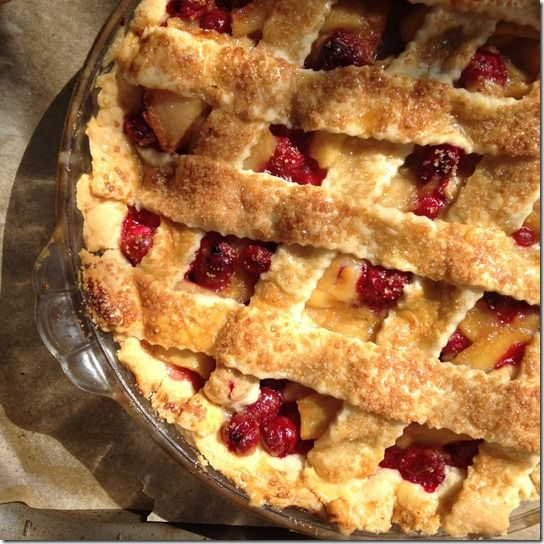 cranberry apple pie @L Mahaffey | Food | Pinterest