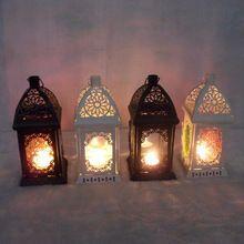 Iron kandelaar marokko amoureuze gevoelens storm lantaarn kandelaar retro bruiloft meubileringsartikelen zakka stijl(China (Mainland))