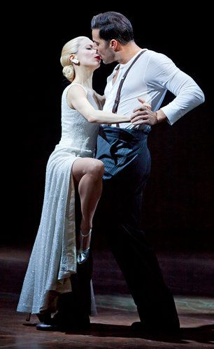 Elena Roger and Ricky Martin in Broadway's first revival of Evita! Check out all the reviews on CurtainCritic.com!