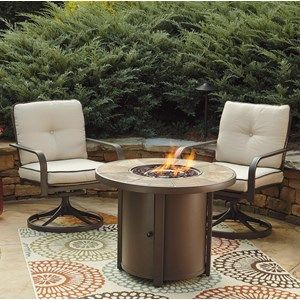 Signature Design by Ashley Predmore 3-Piece Round Fire Pit Table Set