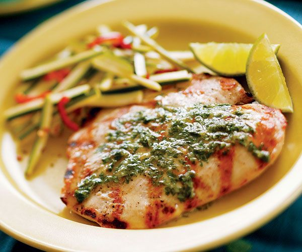 Grilled Butterflied Chicken Breasts with Cilantro-Lime Butter - Fine ...
