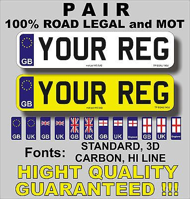 Pair car #registration number #plates 100% road legal mot uk #license...,  View more on the LINK: 	http://www.zeppy.io/product/gb/2/261965350695/