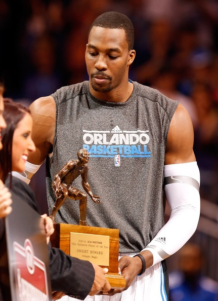 Dwight Howard | Dwight Howard Dwight Howard #12 of the Orlando Magic receives his ...