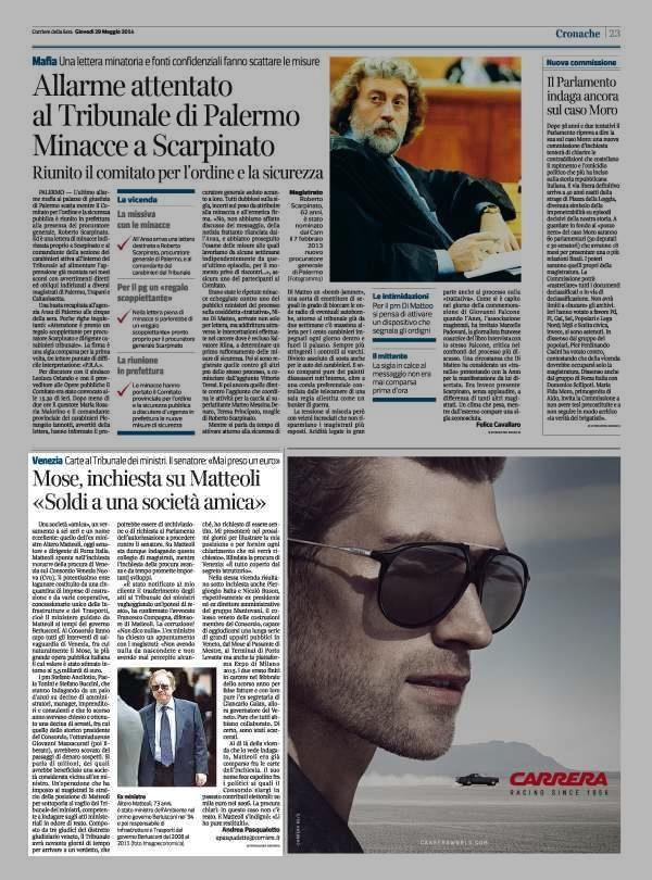 #Mose, inchiesta su Matteoli «Soldi a una società amica»
