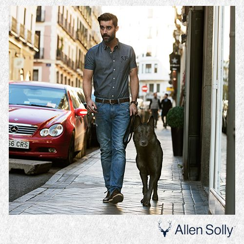Start your week on a stylish note, with a comfortable pair of denims and a charcoal grey shirt to go with it.