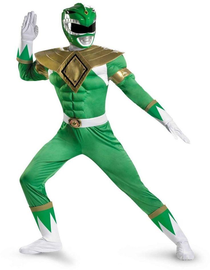 DISGUISE 45863D Power Rangers Men's Green Ranger Classic Muscle Costume-DISGUISE 45863D Power Rangers Men's Green Ranger Classic Muscle Costume