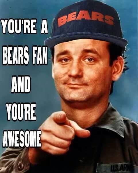Good Bears fan!