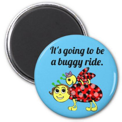 Ladybug Movie Buff Stick-up Magnet - home gifts ideas decor special unique custom individual customized individualized