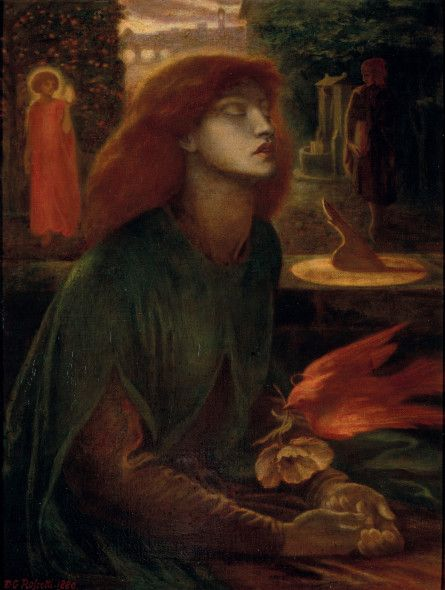 Dante Gabriel Rossetti, Beata Beatrix, 1880, Olio su tela, cm 86 x 66,7. Edimburgo, National Galleries of Scotland. Dono di A.E. Anderson in memoria del fratello Frank, 1928. © Bridgeman Images