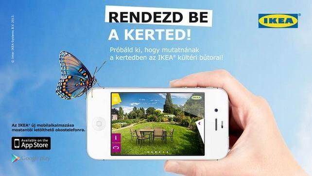 Kertberendező mobilalkalmazás az IKEA-tól - segítség kerti bútor választáshoz