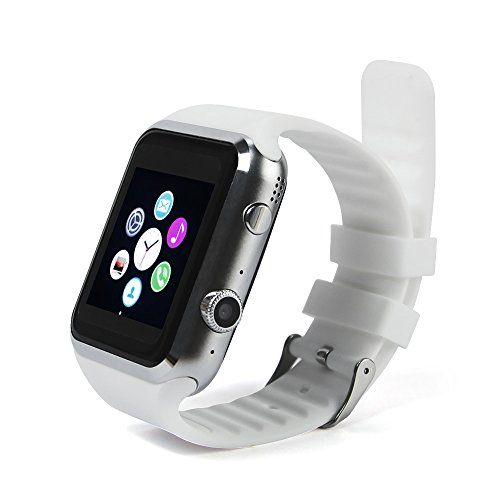 Dax-Hub Bluetooth Smart Watch A9S Inteligente Con Pantalla Cámara Táctil Para Android IOS Iphone Samsung Galaxy HTC Sony Calculadora, Monitoreo del sueño, Marcador (Blanco) #friki #android #iphone #computer #gadget