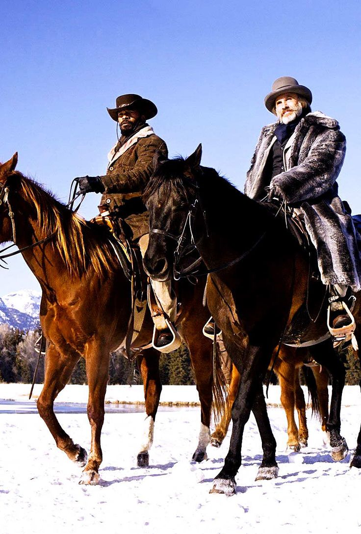 Jamie Foxx & Christoph Waltz on the set of 'Django Unchained'  - in my FAVORITE moment...
