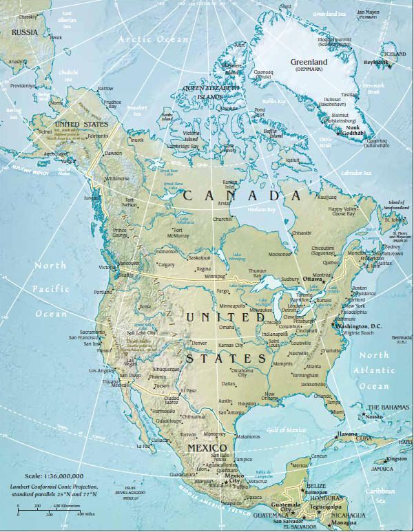 Landkarte Nordamerika Afrika Karte Nordamerika