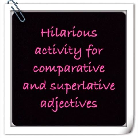 From my blog Love/Haight: Comparative and Superlative Adjective Advertisements :) super fun