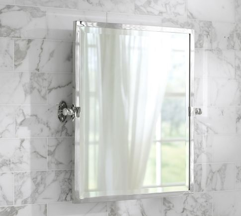 don't like mirror, need one with storage, but idea for wall: how much tile, what color tile.