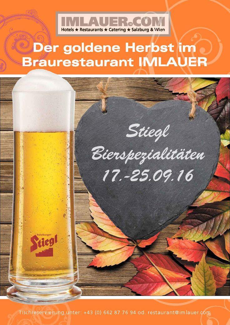 Probieren Sie Spezialbiere von Stiegl vom 17. bis 25. September im…