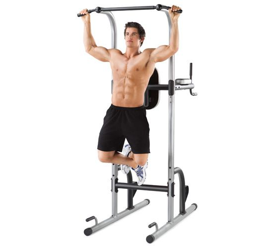 Weider 200 Power Tower wide pull up workout
