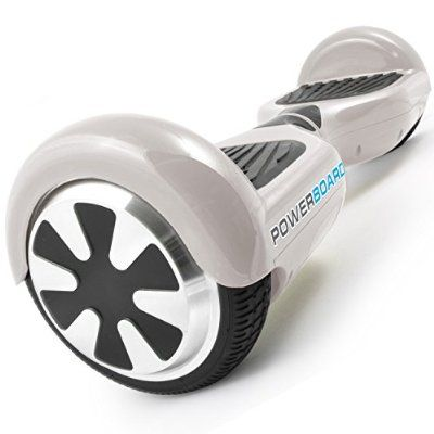 Powerboard by HOVERBOARD - (SAFE UL 2272 CERTIFIED) White - 2 Wheel Self Balancing Scooter with LED Lights - Hands Free Battery Powered Electric Motor --Personal Transporter - USA Company