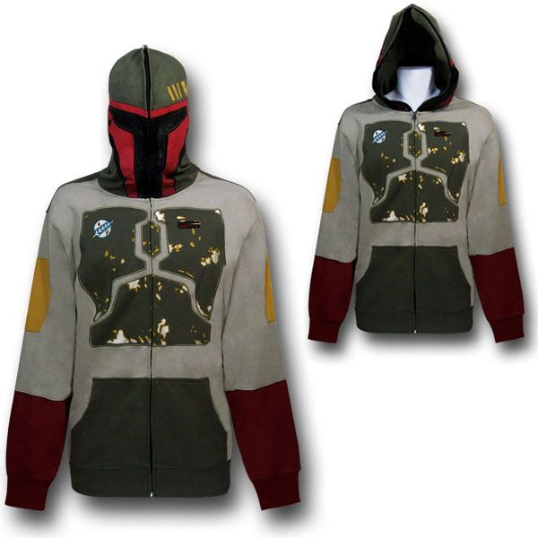 Boba Fett Costume Hoodie with Embroidery