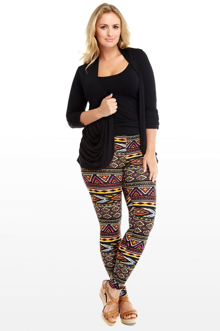 Inca Legging | Curvy Fashion | Pinterest | Plus size leggings Aztec and Plus size