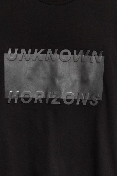Motifli Tişört - Siyah - ERKEK | H&M TR