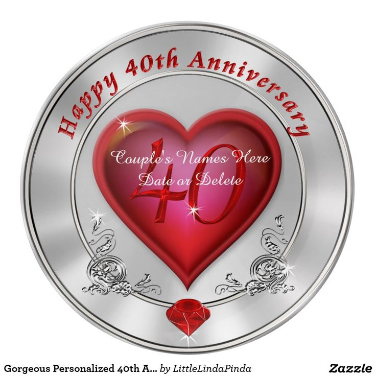 Unusual Ruby Wedding Gifts: 36 Best 40th Anniversary Gifts PERSONALIZED Images On