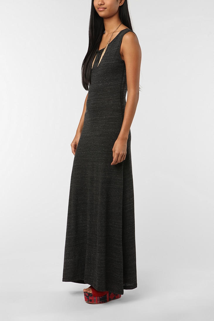 Long Dark Open Back Maxi Dress #urbanoutfitters