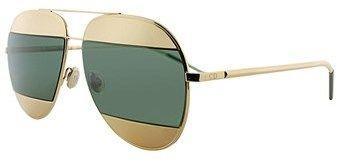 Christian Dior Split 1 000 Rose Gold Aviator Sunglasses.
