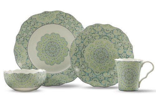 222 Fifth Lyria 16-Piece Dinnerware Sets, Teal 222 Fifth…