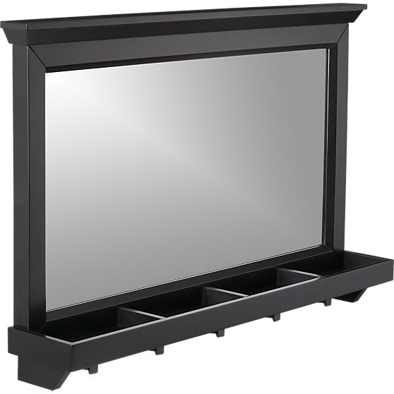 Paterson Black Wall Mirror in Wall Mirrors   Crate and Barrel