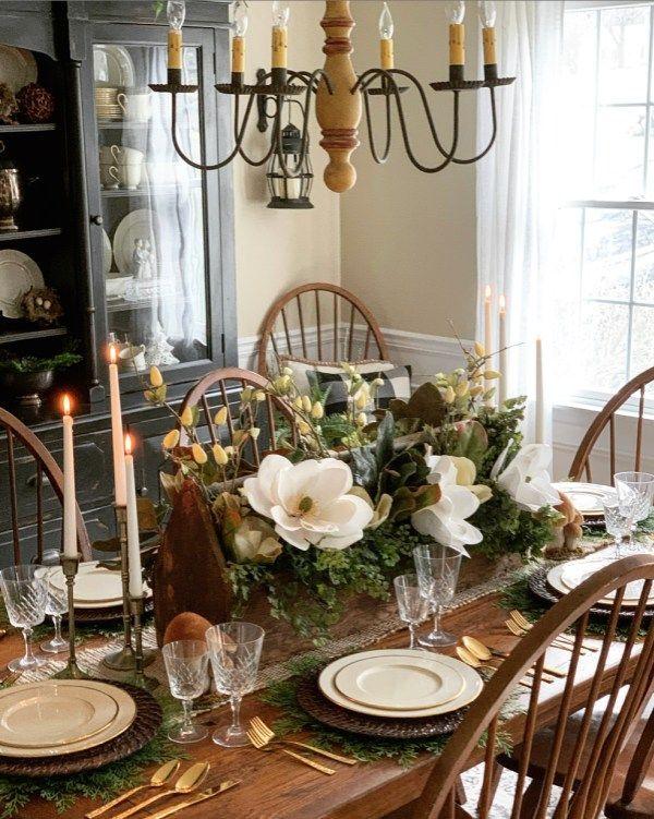 Rustic Farmhouse Spring Centerpiece Idea Stacy Ling Spring Table Centerpieces Spring Decor Spring Centerpiece