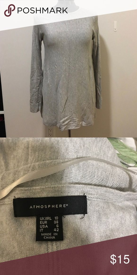 ⭐️ Atmosphere Grey Tunic Knit ⭐️ $15 Trade Value ⭐️ Atmosphere Light Grey Knit Tunic Length Sweater | Size 6 | Great Condition |  Make a B…