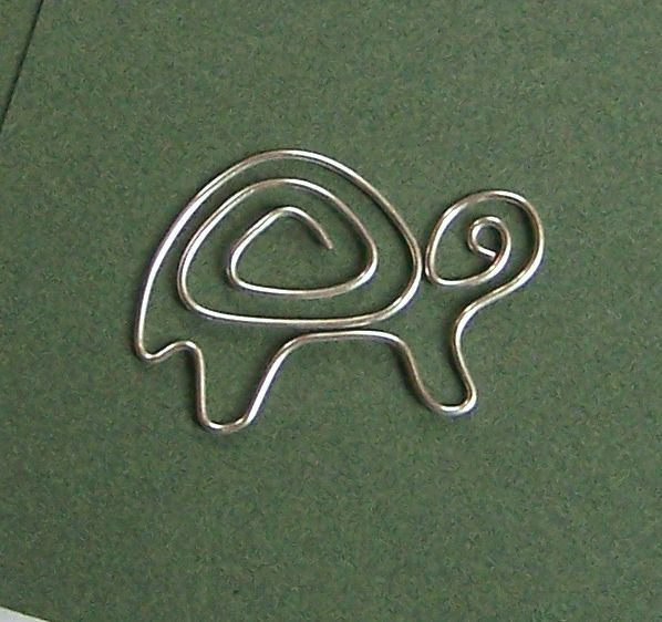 Turtle wire bookmark by TuranianWalk on Etsy