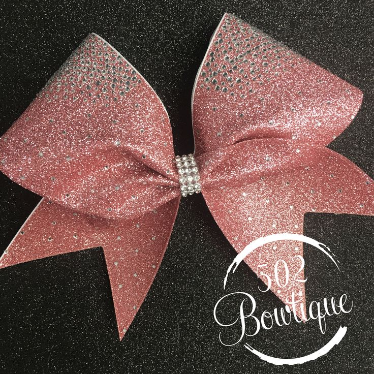Rose Gold Bling Cheer Bow