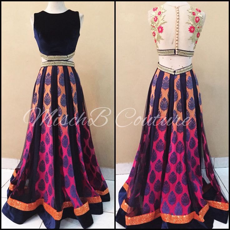 Bold and bright! Anarkali by MischB Couture