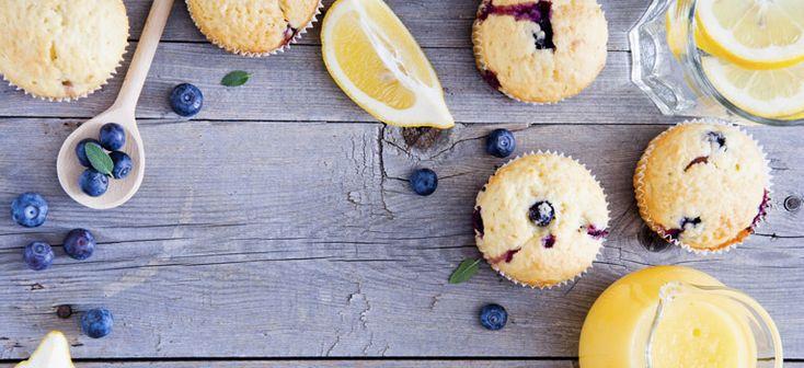 Receitas para a praia - Muffins de mirtilo e limão