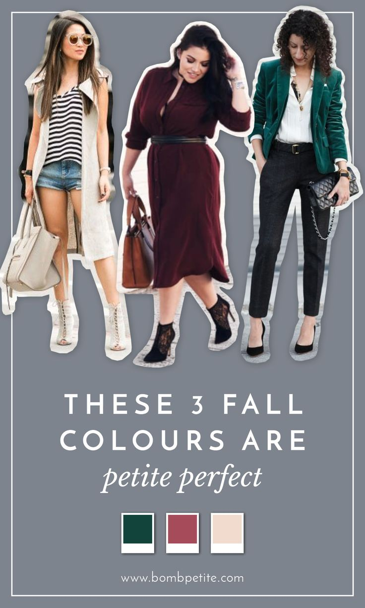THESE 3 FALL COLOURS ARE PETITE PERFECT For Autumn, channel the new spirit of grown-up dressing with these on trend colours. The new hues will help transition your outfit for the changing seasons. We'll be showing you how to luxuriate the hottest, must have colours straight from this seasons runways into your closet. The design, style and fit of all our featured garments are made specifically for petites. :: Petite dresses, style tips, trends…The ultimate petite fashion resource —…