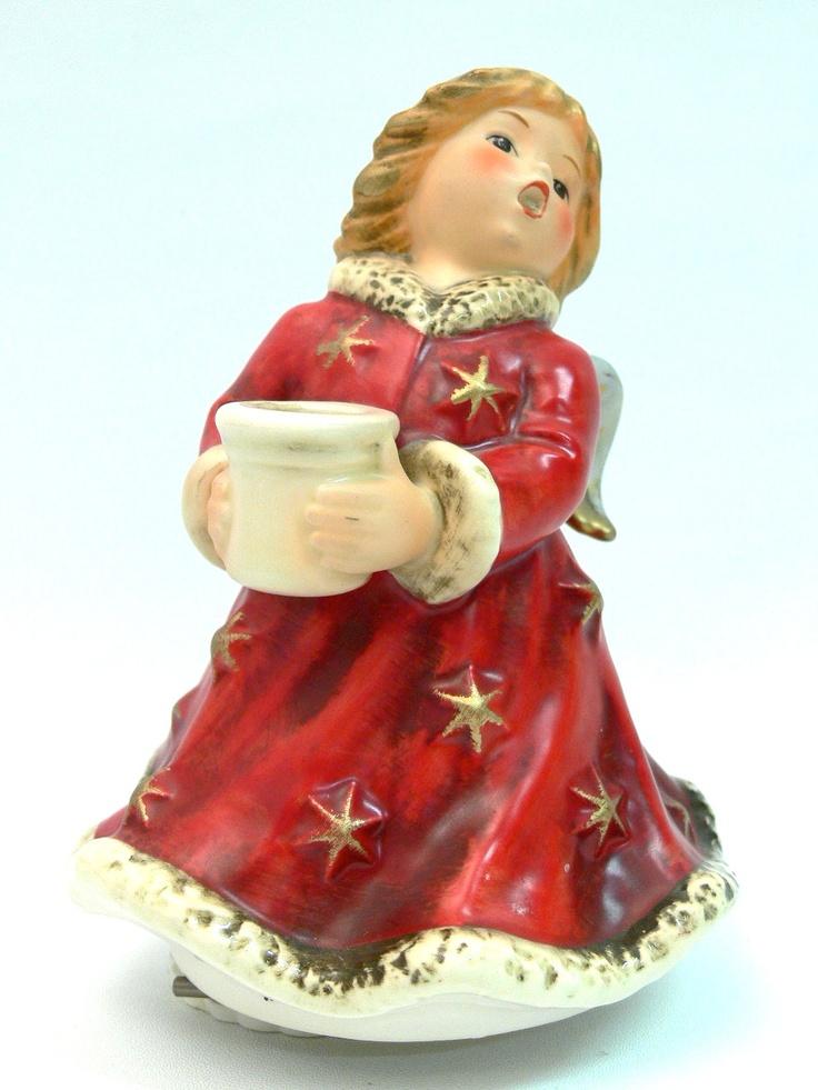 Original Goebel Engel Spieluhr Stille Nacht Kerzenhalter im roten Kleid Gebraucht, in hervoragendem Zustand. Keinerlei beschädigungen, Spielwerk funktioniert einwandfrei. Höhe: 16,5 cm Nr. 4232815 $55.00