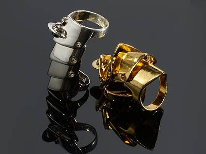 Full Finger armor rings by Vivienne Westwood
