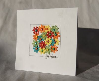 Tiny coloured flowers and brads