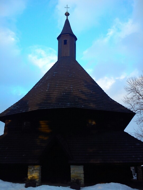 Tvardosin. Wooden gothic church