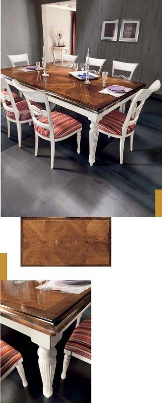 Klasszikus asztal intarziával - www.montegrappamoblili.hu
