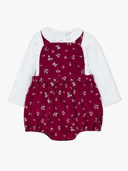 4aee77ea0e0 John Lewis   Partners Heirloom Collection Baby Cord Floral Romper and Body  Set