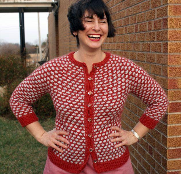 Sally Cardigan knit in Valley Yarns Sheffield