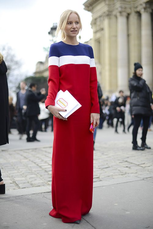 how about that dress? dropping a floor length number on the situation in Paris.