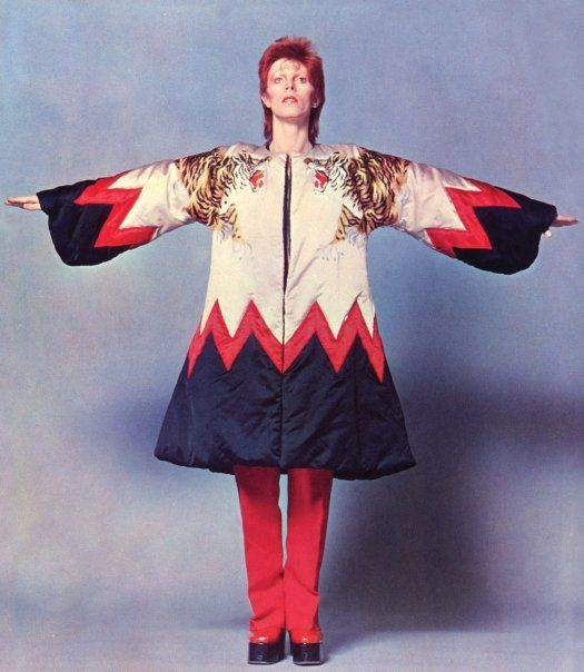 Kansai Yamamoto was the genius designer of some of Bowie's Ziggy Stardust era beautiful clothing.