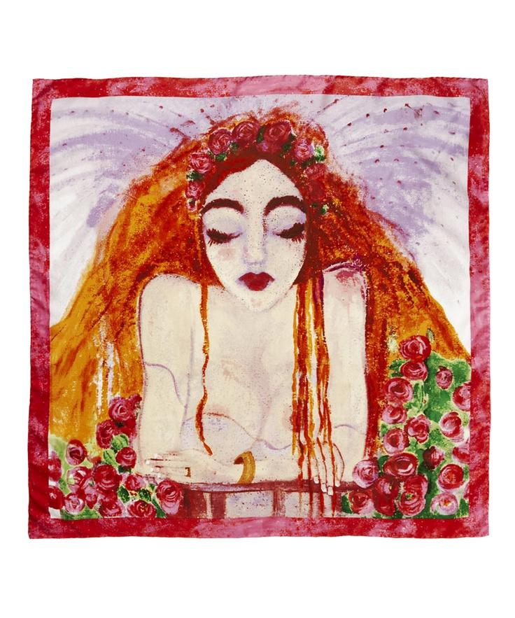 Dorcas and Mopsa  Juliet Print Scarf, Dorcas and Mopsa    £265.00