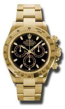 Rolex Daytona Yellow Gold Bracelet Watch, Black Index Dial Check https://www.carrywatches.com Rolex Daytona Yellow Gold Bracelet Watch, Black Index Dial  #rolexladieswatches