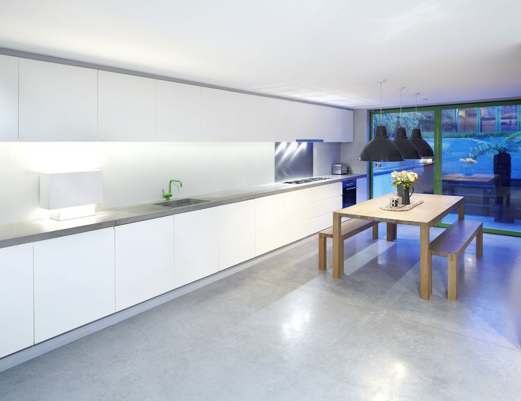 Cool and contemporary ...the latest images of our polished #concrete worktops. #design #interior
